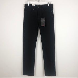 Levi's 712 Slim Leg Black Mid Rise Stretch Jeans